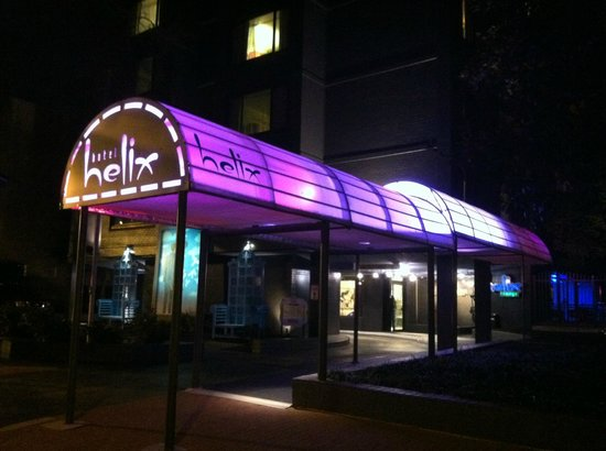 Helix, a Kimpton Hotel:                   Front of Hotel (cool entrance)