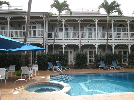 Plantation Inn:                   We stayed in room 17 (2nd floor, middle balcony) overlooking the pool and morn