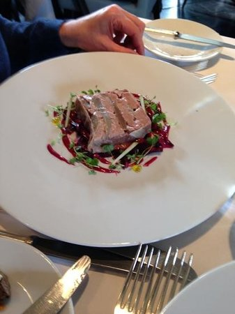 Lavenham Great House Hotel & Restaurant: duck terrine starter