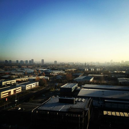 Holiday Inn Manchester MediaCityUK:                   View from my room on the 10th floor - what a beautiful morning!