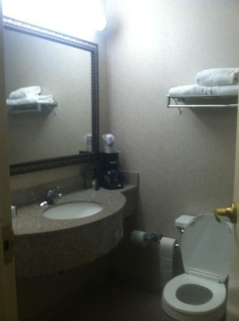 Cotton Exchange Hotel: The bathroom