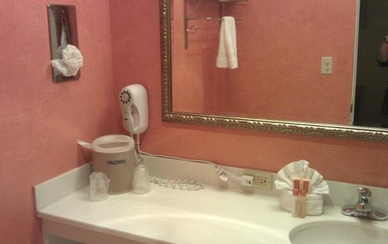 Hacienda Hotel Lax Airport: bright orange bathroom