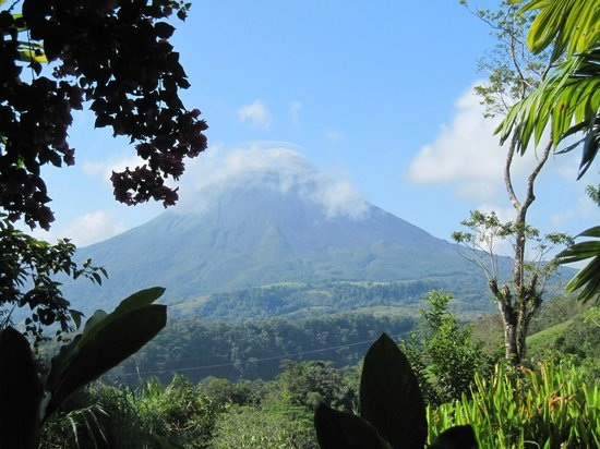 The Springs Resort and Spa at Arenal:                   Volcano view from The Springs room 101