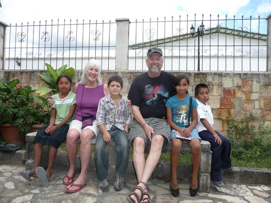 La Posada B&B:                   Visiting our sponsor children @ Children International site in Copan