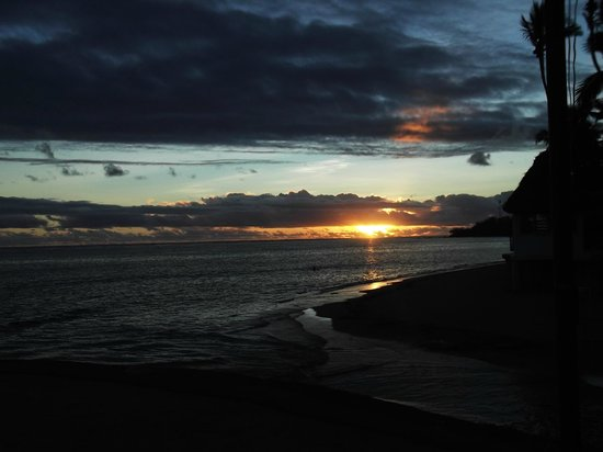 Fiji Hideaway Resort & Spa:                   Sunset in Paradise