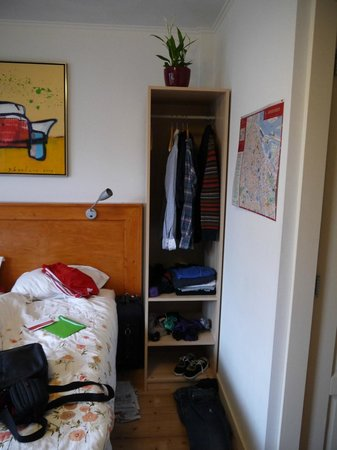 B&B Jordaan:                                                       good wardrobe space (each side of bed)