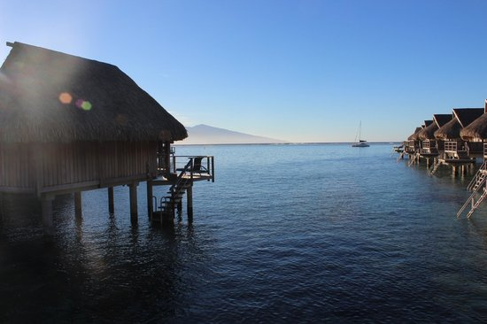 Sofitel Moorea Ia Ora Beach Resort:                   Morning sunrise from our deck