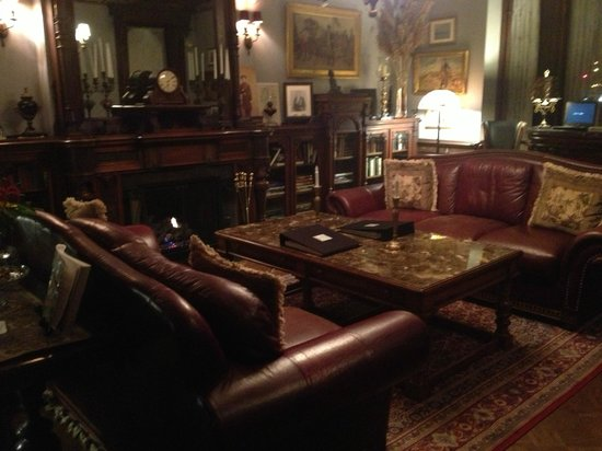 Batcheller Mansion Inn:                   Living room on first floor