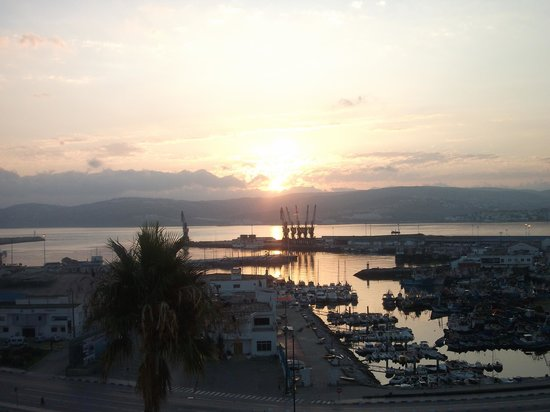 Hotel Continental:                   Moroccan Sunrise over the port