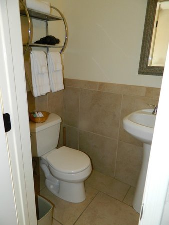 Ocean Beach Hotel:                   small bathroom