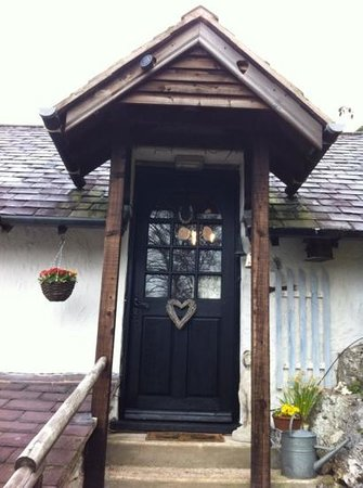 Denbighshire, UK:                   The entrance to the apartment
