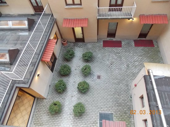 Hotel Urbani:                   The view of the courtyard from our balcony