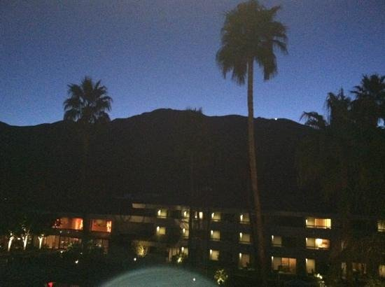 Hilton Palm Springs Resort:                   sunset view from my suite