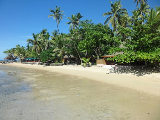 Toberua Island, Fiji:                   The main beach