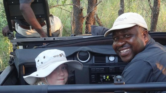 Lion Sands River Lodge: Ranger Simon who let our daughter ride shotgun the entire week!  This man is a phenomenal guide!