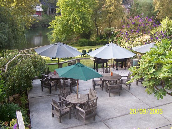 Rio Villa Beach Resort: Enjoy the Russian River from our patios and lawns