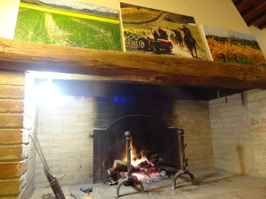 Fattoria Poggio Alloro: Sitting by the fireplace