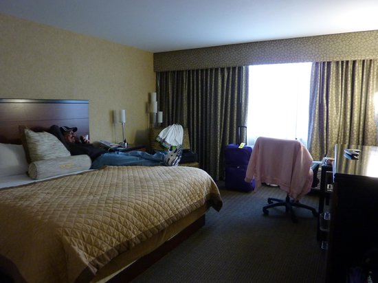 Wyndham Garden Hotel - Philadelphia Airport:                   Our room with King size bed