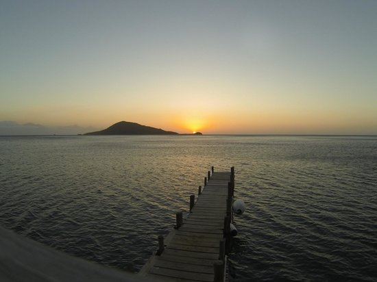 Bay Islands, Honduras:                   One of many incredible sunsets at Turtle Bay