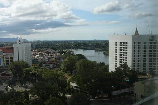 Pullman Kuching:                   View from room toward river and old town.