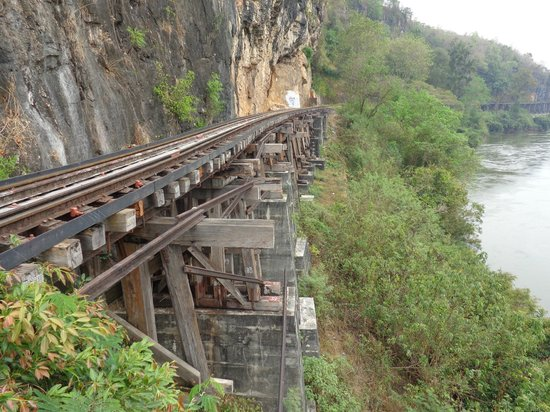 Trestle bridges built by POWs still in use today - Picture of Thai-Burma...