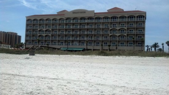 Quality Suites Oceanfront:                   View of hotel from the ocean front.