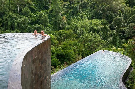 the famous infinity pools picture of hanging gardens of bali