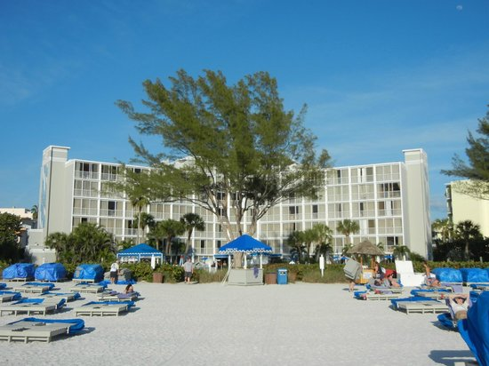 Guy Harvey Outpost, a TradeWinds Beach Resort:                   Hotel from the beach