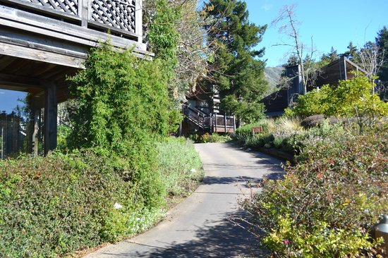 Ventana Inn &amp; Spa:                   Pathway from the reception to the rooms