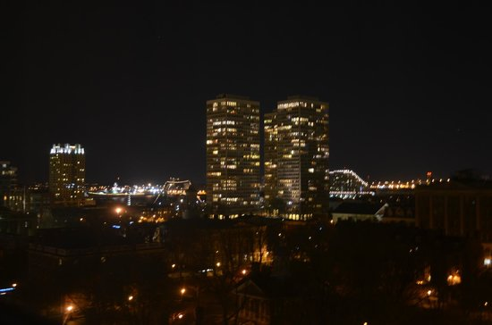 Omni Hotel at Independence Park:                   Evening view toward river (zoom lens)