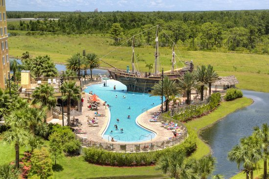 Lake Buena Vista Resort Village & Spa: View to the Pirate Ship Pool