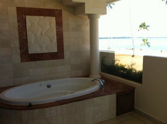 jacuzzi on our balcony. Black Bedroom Furniture Sets. Home Design Ideas