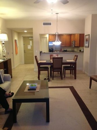 The Westin Cape Coral Resort At Marina Village:                   Living room/kitchen