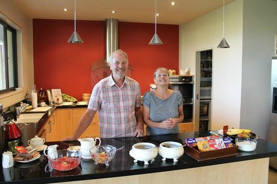 Beaconfield B&B:                                     Our hosts, Mike & Carla in the kitchen