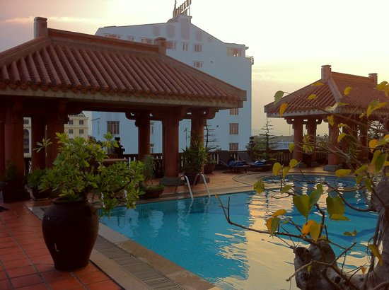 Imperial Hotel:                   Swimming pool area 3rd floor : great !