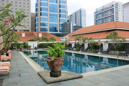 The Hotel Pool Picture Of Raffles Hotel Singapore Singapore Tripadvisor