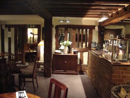 The Angel Inn: The bar area