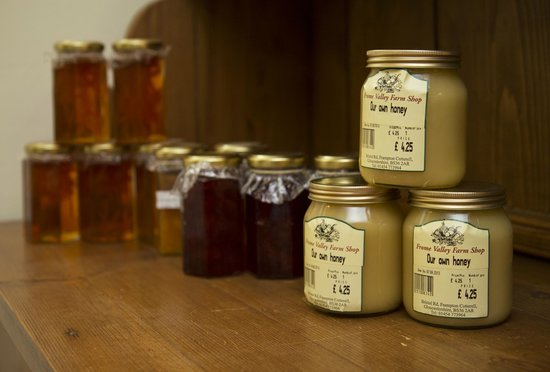 Pucklechurch, UK: Homemade jams, marmalades and local honey for sale