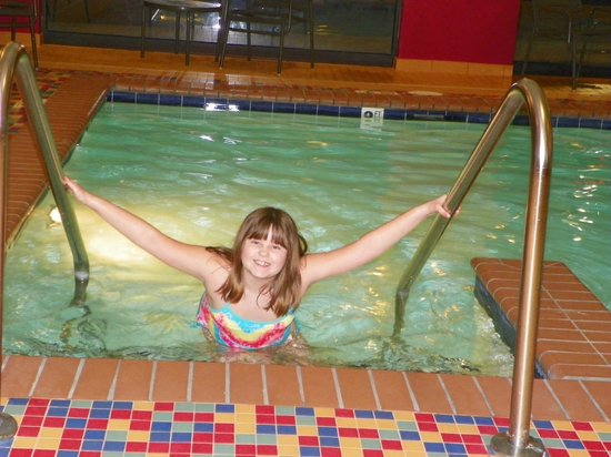 Hampton Inn Reading/Wyomissing:                   Liz enjoying the pool on a cold winter day