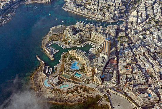 Saint Julian&#39;s, Malta:                   Aerial view of St Julian&#39;s