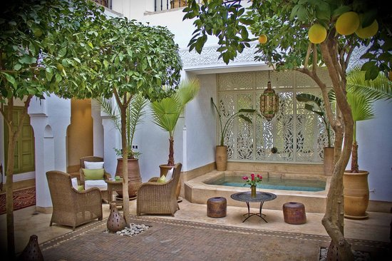 Riad Camilia: Splashpool in the courtyard