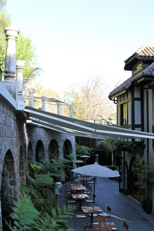 The Aubrey Boutique Hotel:                   Outdoor dining