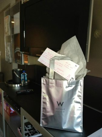 W New York - Times Square: Welcome Gift in Room for SPG Platinum