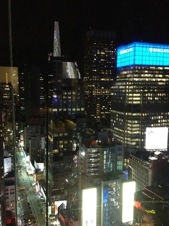 W New York - Times Square: Night view from room