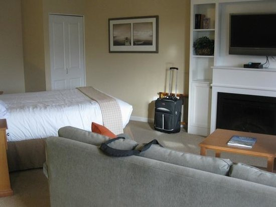 Rivertide Suites:                   The sleeping/living room area