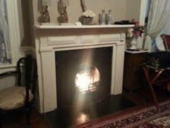 McMillan Inn :                   Lovely fireplace in the Huntington Room