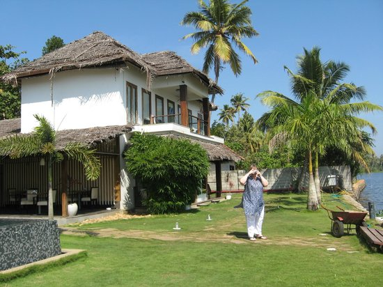 The Park on Vembanad Lake:                   The hotel from the side garden