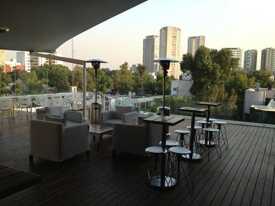 Hotel Habita:                   Roof top deck bar