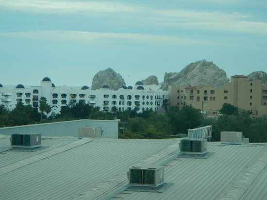 Fairfield Inn by Marriott Los Cabos:                   Rocks at Lands End as seen from our window (overlook foreground)