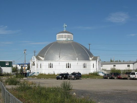 Inuvik, Canada :                   Igloo church